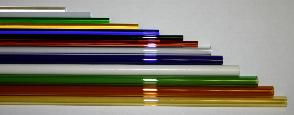 Borosilicate glass tubes and rods